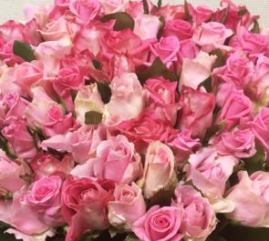 ピンクMixバラ花束
